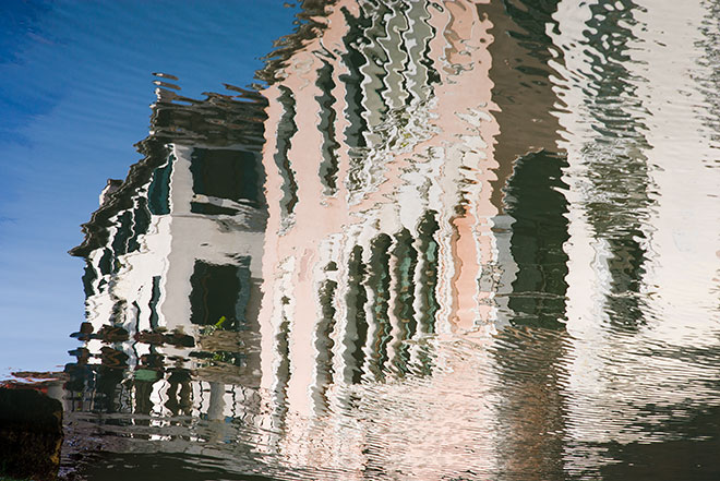 Relections of Venice. Canal Side.